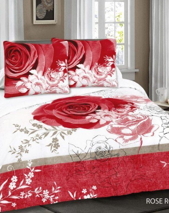 dekbedovertrek met roos